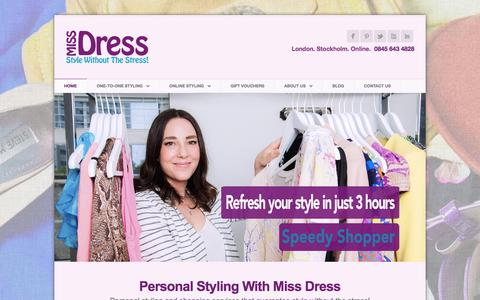 Screenshot of Home Page miss-dress.com - Miss Dress - Personal Stylist Services - captured Jan. 13, 2016
