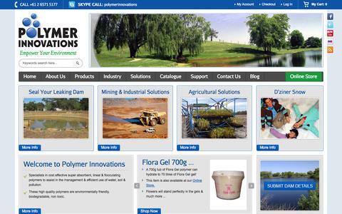 Screenshot of Home Page polymerinnovations.com.au - Home - captured Jan. 20, 2015