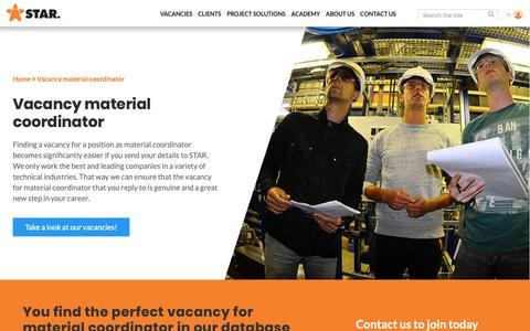 Screenshot of Team Page starpowerpeople.com - Vacancy material coordinator  | STAR Power People - captured Nov. 12, 2018