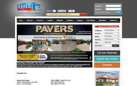 Screenshot of Contact Page homeprosguide.com - Home Pro's Guide is Your Guide to Home Improvement Companies - captured Sept. 30, 2014