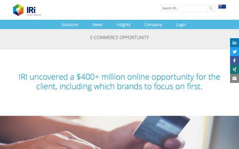 Screenshot of Case Studies Page iriworldwide.com - E-Commerce Opportunity- IRI - captured Jan. 6, 2020