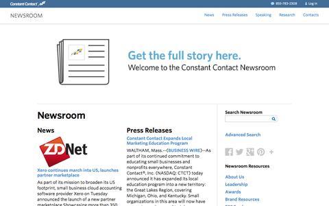 Constant Contact Media Newsroom  