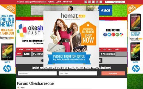 Screenshot of Login Page kang-hilman.blogspot.com - Forum Okesharezone - captured Oct. 30, 2014