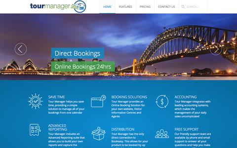 Screenshot of Home Page tourmanager.com.au - Tour Manager - Australia's number one Tour Management System. - captured March 25, 2016