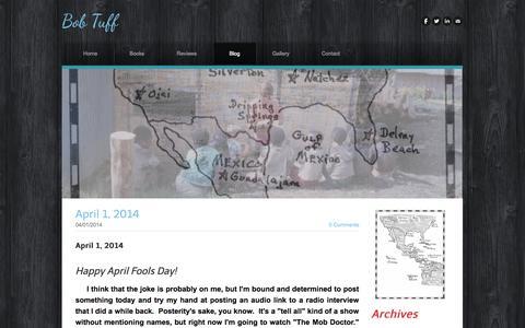 Screenshot of Blog bobtuff.com - Bob Tuff - Blog - captured Oct. 7, 2014