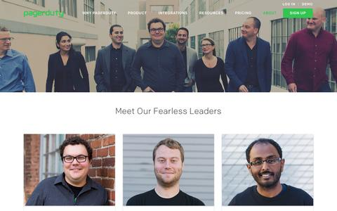 Screenshot of Team Page pagerduty.com - Who We Are | PagerDuty - captured July 3, 2016