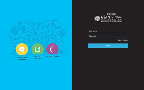Screenshot of Login Page sgvu.edu.in - Login - captured Oct. 24, 2018
