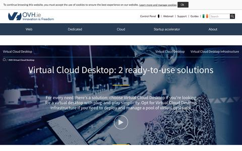 Screenshot of Case Studies Page ovh.ie - Virtual Cloud Desktop | your ready-to-use virtual desktop solution- OVH - captured June 20, 2017