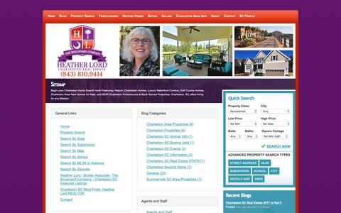 Screenshot of Site Map Page heatherlord.com - Sitemap - captured Oct. 15, 2018