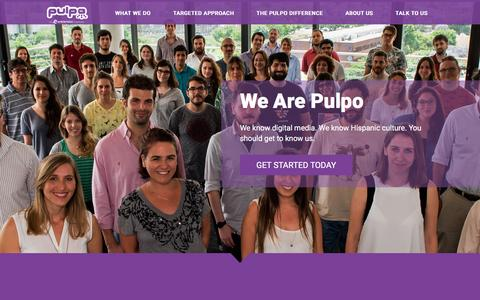 Screenshot of About Page pulpo.com - Pulpo, an Entravision Company » About Us - captured May 9, 2017