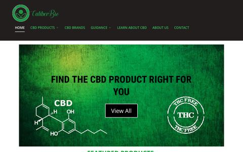 Screenshot of Home Page caliberbio.com - Caliber Biotherapeutics - Top Source for CBD Information Online - captured Sept. 26, 2018