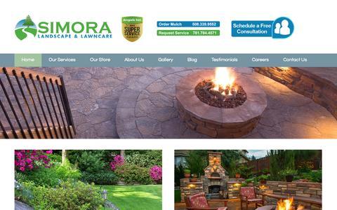 Screenshot of Home Page simora.com - Home - Simora Landscape & Lawncare - captured Oct. 7, 2014