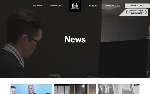 Screenshot of Press Page tbkcreative.com - News - tbk Creative - captured Sept. 20, 2018