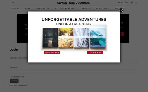 My Account - adventure journal