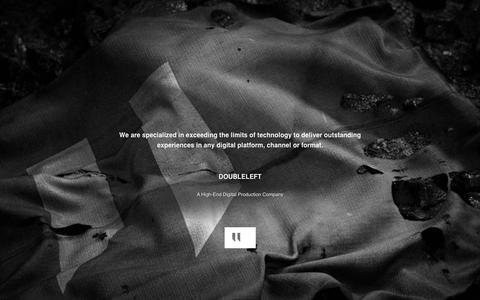 Screenshot of Home Page doubleleft.com - DOUBLELEFT - captured June 17, 2015