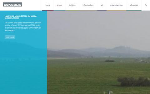 Screenshot of Home Page consolis.com - High-performance Precast Concrete Solutions | Consolis - captured Dec. 12, 2015