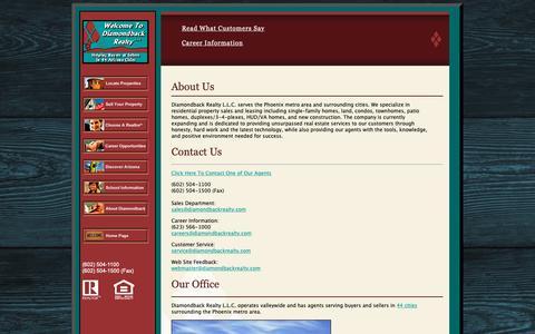 Screenshot of About Page diamondbackrealty.com - Diamondback Realty - captured Oct. 18, 2018