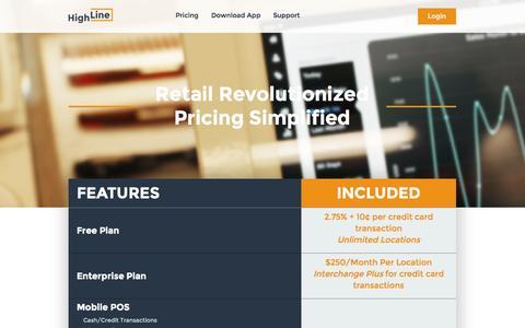Screenshot of Pricing Page high-line.com - Highline - captured Oct. 1, 2014