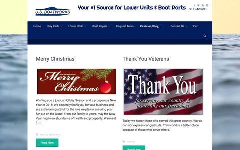 Screenshot of Blog boatengine.com - Blog & News | Your #1 Source for Lower Units & Boat Parts |         913-342-0011 - captured Jan. 21, 2016