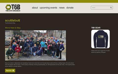 Screenshot of Blog the6thbranch.org - Blog | Scuttlebutt - captured Oct. 1, 2014