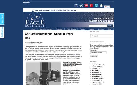 Screenshot of Blog eagleequip.com - Eagle Equipment BlogEagle Equipment Blog - captured Oct. 1, 2014