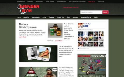Screenshot of FAQ Page grindergym.com - FAQ - captured Sept. 30, 2014
