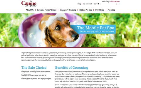 Screenshot of Pricing Page caninecompany.com - Mobile Dog Grooming | Mobile Dog Groomers - captured July 11, 2016