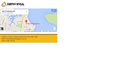 Screenshot of Maps & Directions Page neweragroup.com.au - Untitled Document - captured Oct. 7, 2014