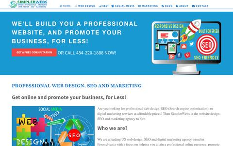 Professional web design, SEO and marketing for small business