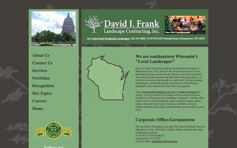 Screenshot of Locations Page davidjfrank.com - Local Landscaper: 7 Offices Mean Convenience Lawn & Landscape Services - captured Oct. 5, 2014