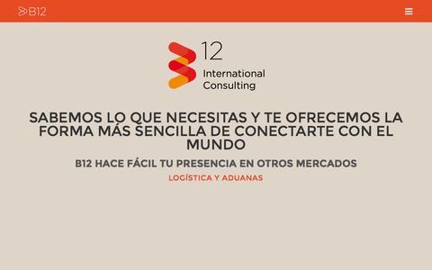 Screenshot of Home Page b12in.com - B12 Internacionalización - captured Oct. 1, 2014