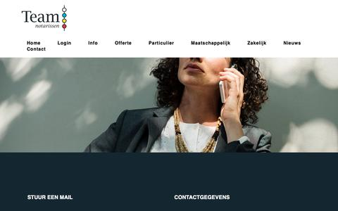 Screenshot of Contact Page teamnotarissen.nl - Contact | Team Notarissen - captured Oct. 18, 2018