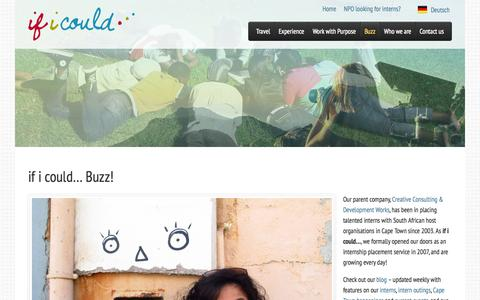 Screenshot of Press Page ificould.co.za - if i could... Development Internships | Media - if i could… - captured Oct. 27, 2014