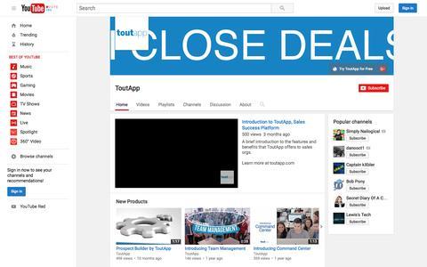 ToutApp  - YouTube
