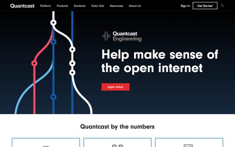 Screenshot of Jobs Page quantcast.com - Quantcast Engineering | Quantcast - captured Nov. 18, 2019
