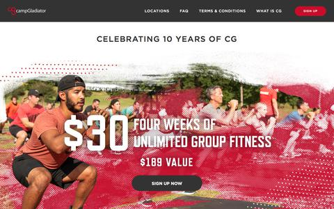 Screenshot of Signup Page campgladiator.com - CG Deal of the Decade - captured Sept. 19, 2018
