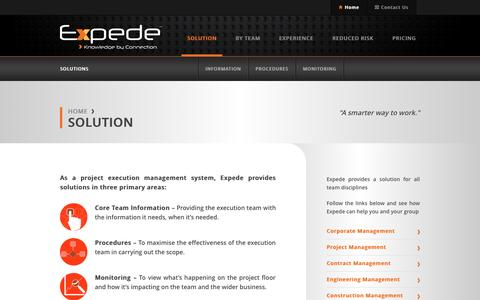 Screenshot of Locations Page expede.net - Solution | Expede. Knowledge by Connection - captured Sept. 30, 2014