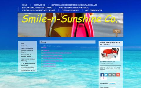 Screenshot of Site Map Page smile-n-sunshine.com - Welcome to Smile-n-Sunshine Co. - What We Offer - captured Oct. 9, 2014