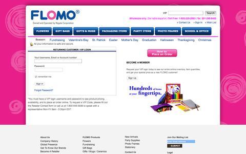 Screenshot of Login Page flomousa.com - FLOMO USA | Welcome to FLOMO USA - captured Feb. 9, 2016