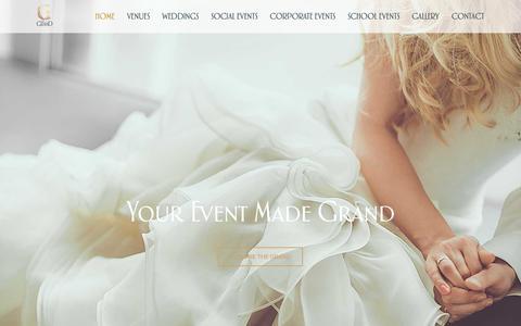 Screenshot of Home Page thegrandreceptions.com.au - The Grand Receptions - captured Oct. 20, 2018