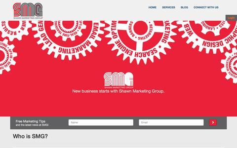 Screenshot of Home Page leadorigen.com - SMG - Specialized Marketing Firm - captured Sept. 29, 2014