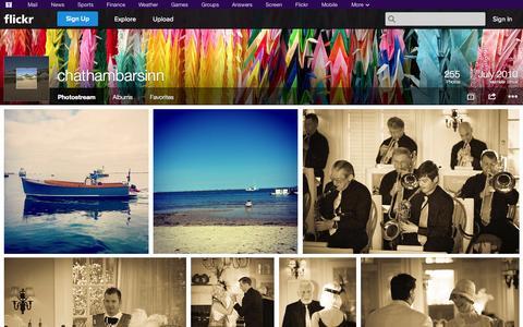 Screenshot of Flickr Page flickr.com - Flickr: chathambarsinn's Photostream - captured Oct. 22, 2014