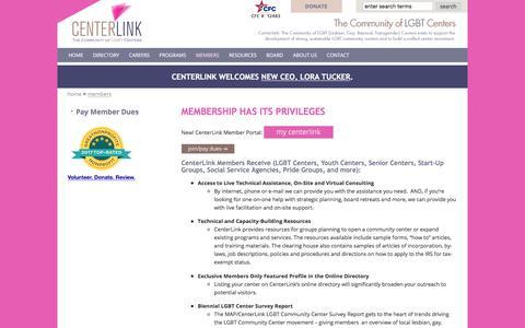 Screenshot of Signup Page lgbtcenters.org - centerlink membership glbt community centers - captured July 20, 2017