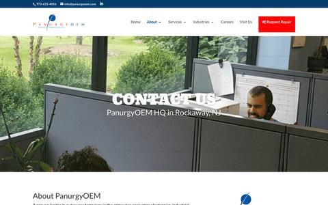 Screenshot of Contact Page panurgyoem.com - Contact Us   PanurgyOEM - captured July 10, 2016