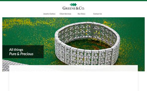 Screenshot of Home Page Privacy Page greeneandco.com - Greene & Co. - captured Dec. 20, 2018
