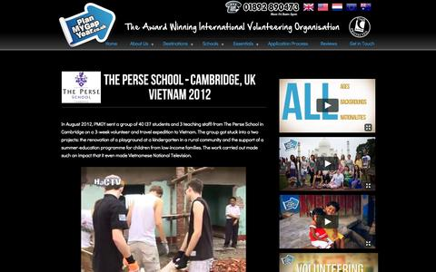 Screenshot of Case Studies Page planmygapyear.co.uk - School Expeditions Abroad Case Studies - captured Nov. 2, 2014