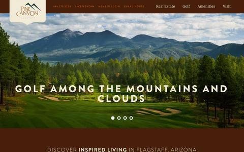 Screenshot of Home Page pinecanyon.net - Flagstaff, Arizona Luxury Homes Community - Pine Canyon - captured July 21, 2015