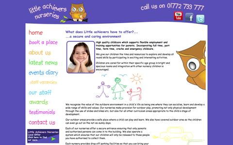 Screenshot of About Page rosyapplechildcare.com - Rosy Apple Childcare | Little Achievers | About Us - captured Oct. 6, 2014