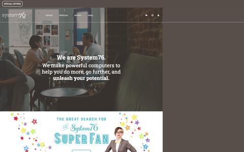 Screenshot of Home Page system76.com - System76 - Ubuntu Laptops, Desktops, and Servers - captured Oct. 15, 2015