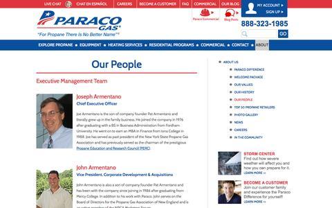 Screenshot of Team Page paracogas.com - Management Team | Paraco Gas - captured Jan. 25, 2016